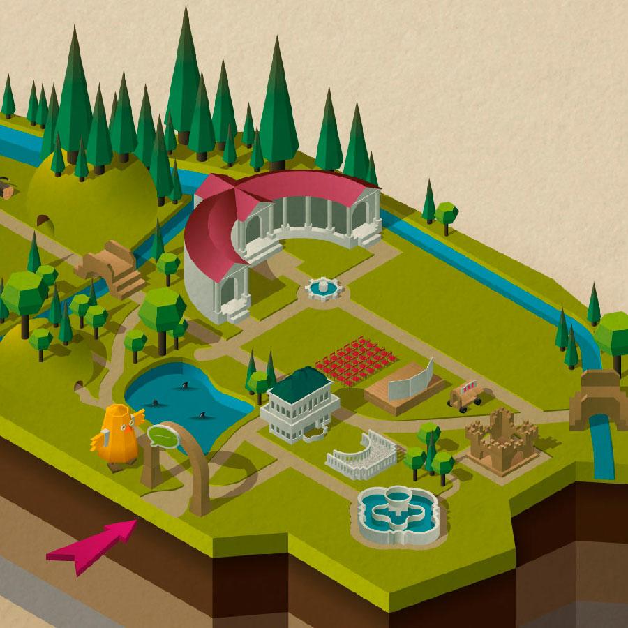 Ich Mappa del Parco degli Alberi Parlanti T