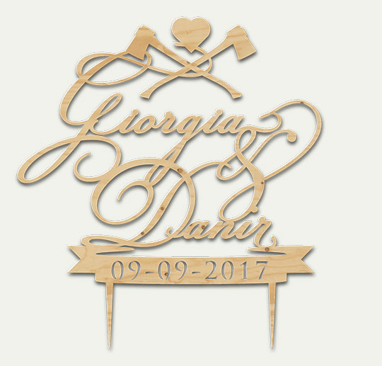 Giorgia&Danir Wedding - Cake Topper